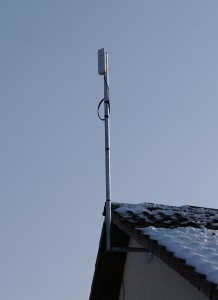 Antenne, 1 Meter über dem First