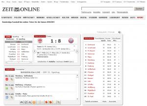 Fußball-Liveticker: Zeit.de