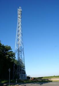 Mobilfunkmast von Vodafone an der Hochwaldspitze