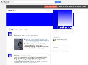 Screenshot von hauter.de bei Google+