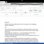 iPad, gestartete Word Web App