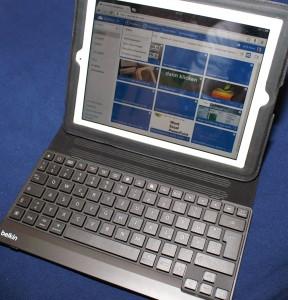 iPad mit Bluetooth Tastatur