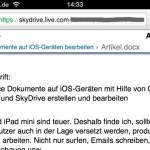 iPhone 4, Ansicht des Dokumentes
