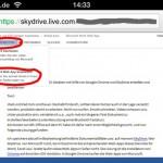 iPhone 4, Auswahl der Web App zum bearbeiten