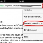 iPhone 4, Desktop-Version anfordern