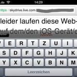 iPhone 4, horizontaler Bearbeitungsmodus mit Tastatur