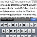 iPhone 4, vertikaler Bearbeitungsmodus mit Tastatur