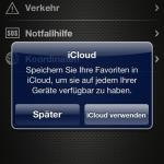 iCloud aktivieren oder dies auf später verschieben