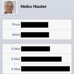 Empfängeradresse angeben (SMS oder Email)