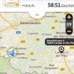 Kartenansicht des Glympses in Safari auf Mobilgerät