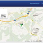 Kartenansicht im Webbrowser auf normalem Bildschirm