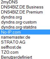 Fritzbox unterstützt diese DynDNS Anbieter