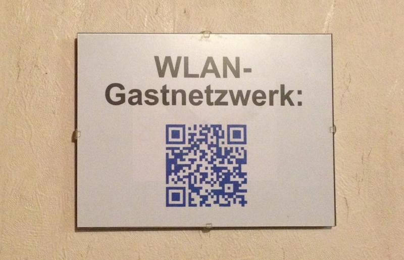 QR-Code mit den Daten eines Gastzuganges für WLAN (Wifi)