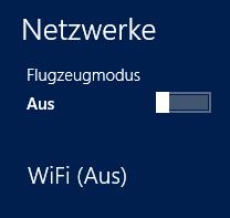 "Flugzeugmodus ""Aus"" WiFi dennoch inaktiv"