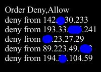 IP via htaccess sperren- htaccess