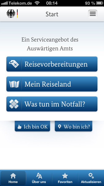 Startseite (iPhone)