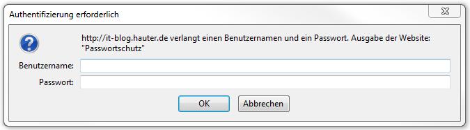 Dialogbox im Firefox