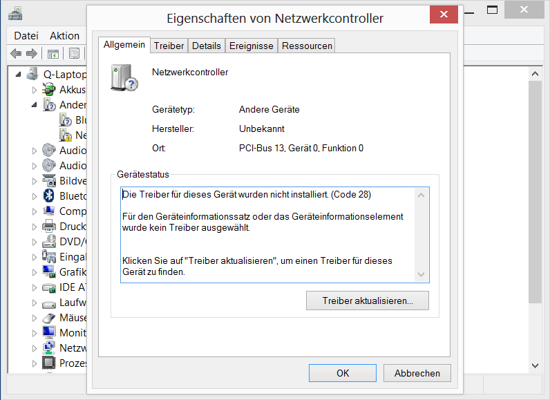 Zusatzinfo: so sieht der Dateimanager nach der Deinstallation des Treibers aus (Detailansicht)